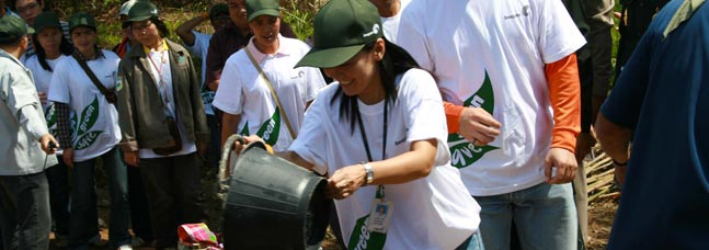 Global Citizenship Woman Planting