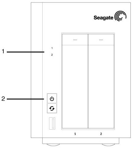 Seagate NAS Pro 2-Bay | 4-Bay | 6-Bay - System LEDs