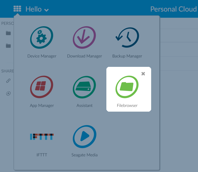 Seagate Personal Cloud User Manual - Filebrowser