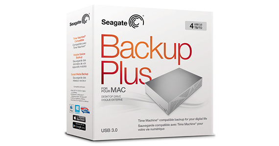 Seagate® Backup Plus desktop drive for Mac