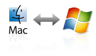 GoFlex ultra-portable features Mac and PC logos