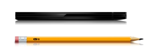 GoFlex Slim Features 1 Drive and pencil