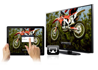 Tableta Airplay con televisor
