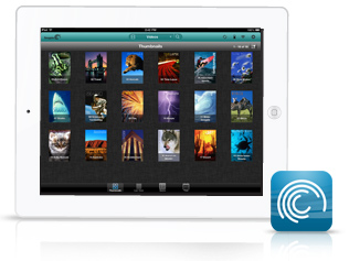 ipad com ícone do app seagate media