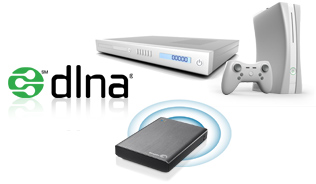 wireless plus con dlna con videoconsolas