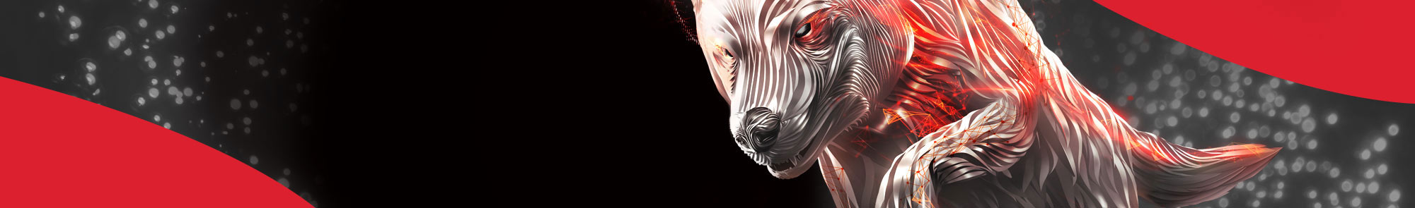 Promotional banner image for the Seagate IronWolf HDDs that shows an iron wolf with glowing red eyes