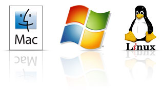 logotipos de mac windows linux momentus xt característica 3