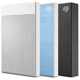 Black Seagate 1TB Backup Plus Ultra Touch USB 3.0 External Hard Drive