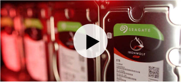 Seagate IronWolf NAS hard drive Agile Array YouTube video screenshot