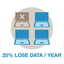 25% Lose Data / Year