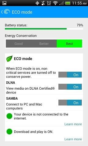 ECO Mode Option