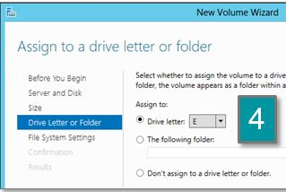 Screen shot showing drive letter