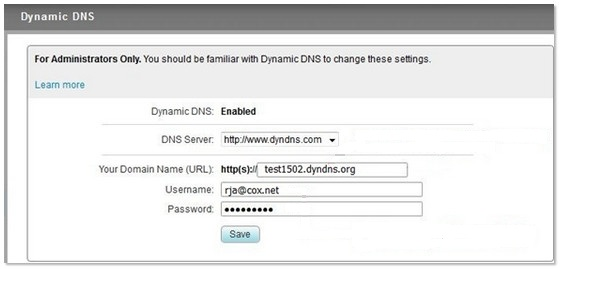 Business Storage NAS - How to setup Dynamic DNS with the