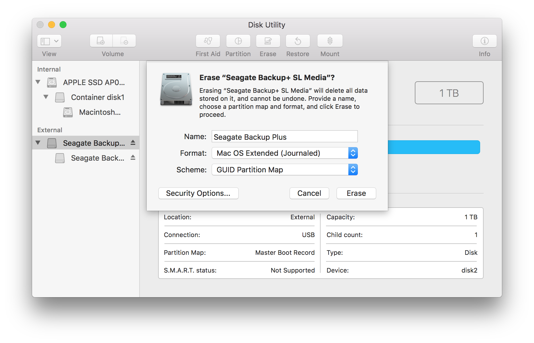 How to format your drive in macOS 10 11 and above | Seagate
