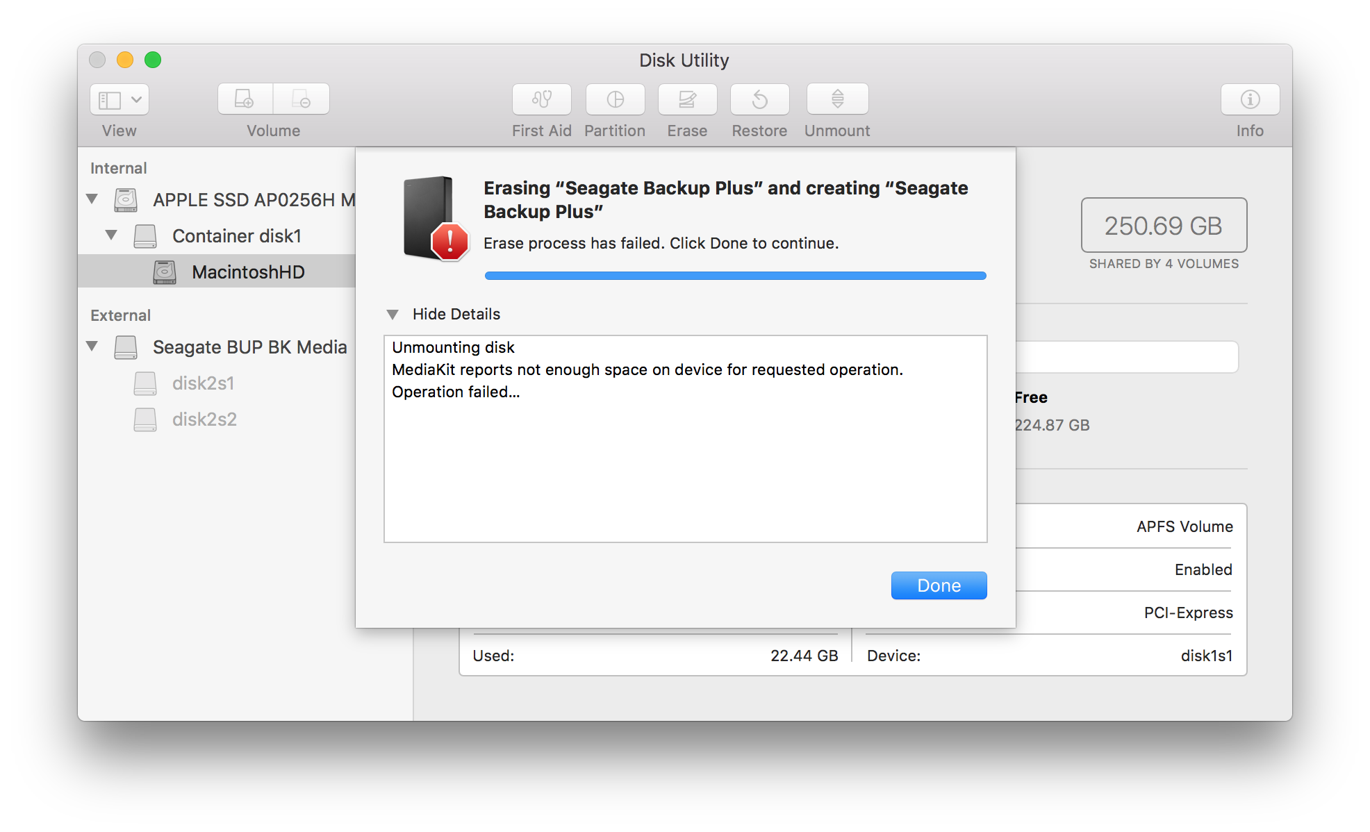 Disk Utility Errors and Questions for macOS 10 11 and higher