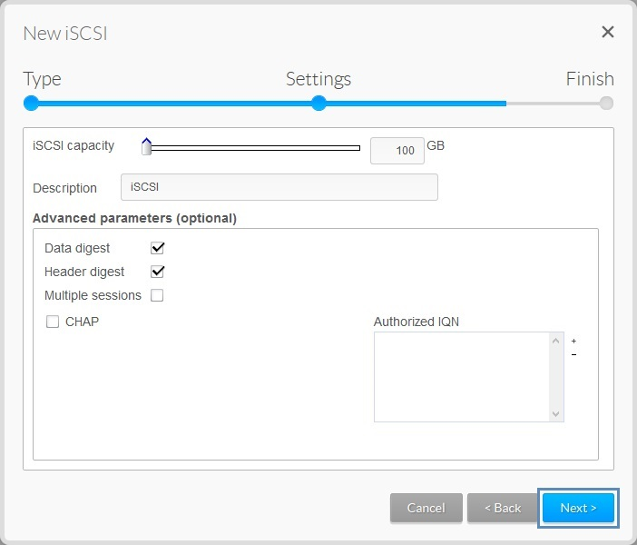 NAS OS 4 x - How to Setup and Connect to an iSCSI Target on
