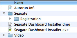 Seagate Dashboard's Installation options on its Backup Plus family of external drives