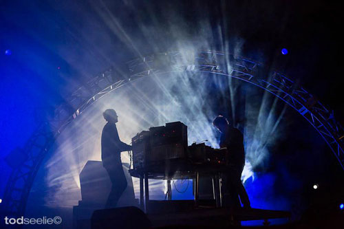 Photo by Tod Seelie of Simian Mobile Disco at FYF Fest 2012